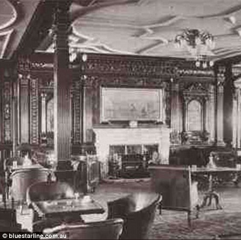 The first class smoking room was a private space for male passengers