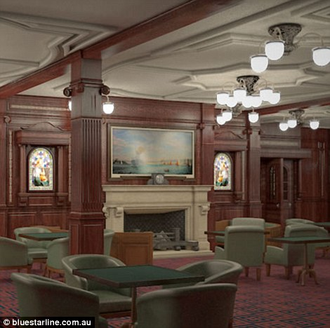 This rendering shows the smoking room