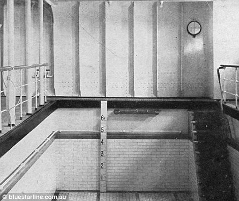 Titanic's 6ft deep pool was filled with salt water