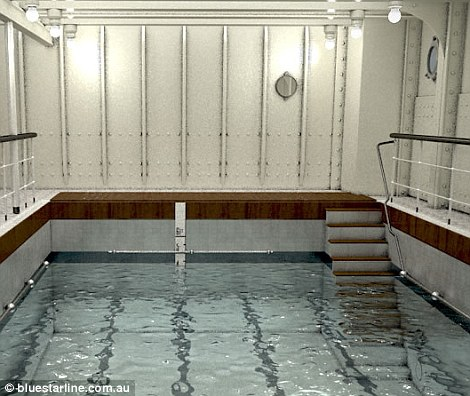 The replica's pool will stay true to that on board the original