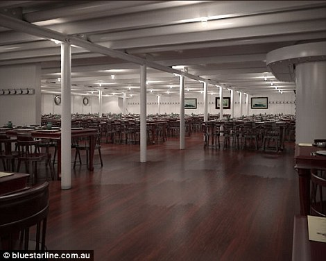 Third class passengers on board the replica will eat in a communal-style dining room
