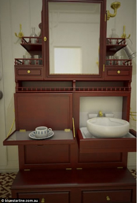 Titanic II's second class rooms will feature replicas of old wardrobes