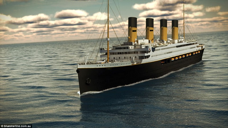Titanic II (pictured in a rendering) has had its launch pushed back to 2018, with a planned journey fromJiangsu, China, to Dubai