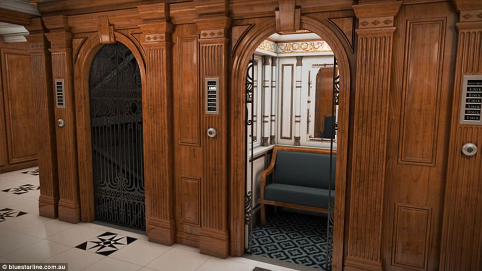 First class passengers on board the Titanic sailed in the lap of luxury and had access to electric lifts withattendants and sofas