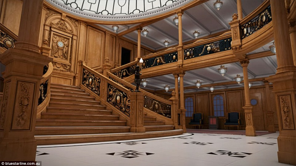 The Titanic, and in particular its grand staircase, has a place in pop culture thanks to the film starring Leonardo DiCaprio and Kate Winslet